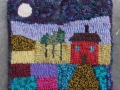 house at night trivet