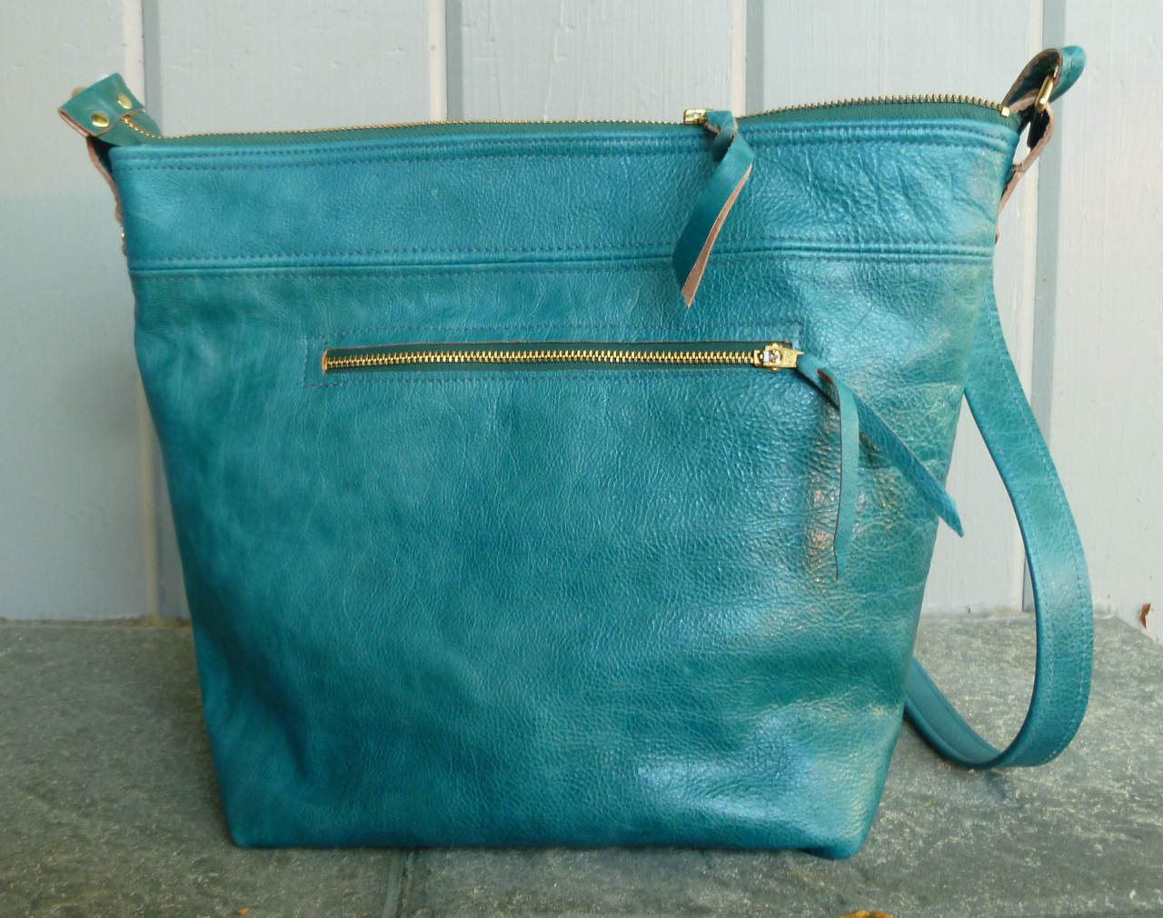 new teal shoulder bag