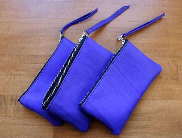 cobalt nubuck pouches 1