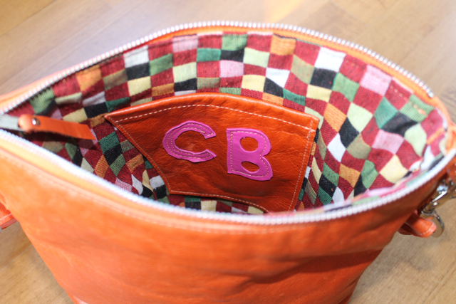 carissa orange bag initials