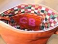 carissa orange bag initials