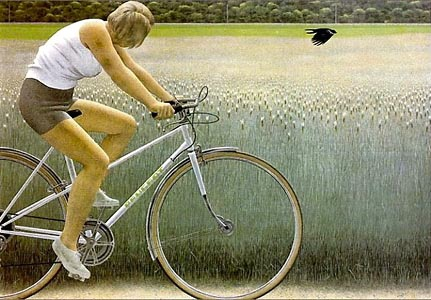 Alex Colville, Cyclist and Crow, 1981 1bc
