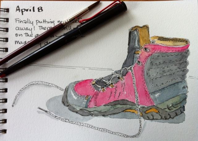 ahnu boot sketch
