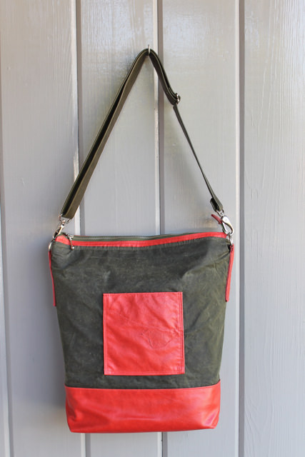 cayenne waxed canvas tote