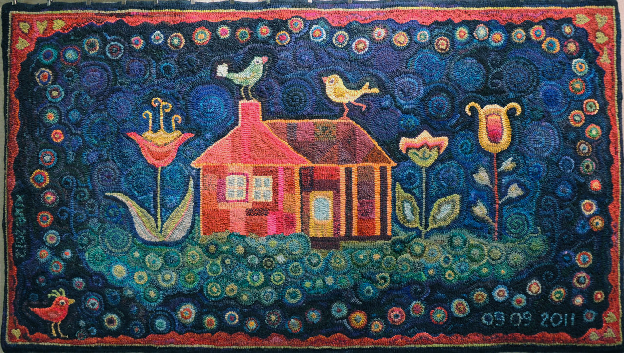 pamono american hooked at rug handmade for sale rugs vintage