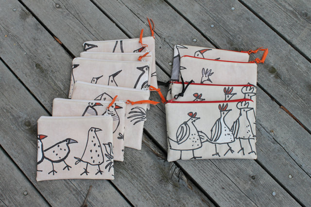 wonky bird pouches all