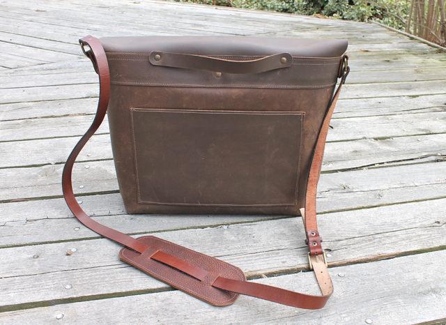 leather laptop bag back